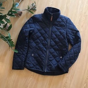 H&M l.o.g.g. Navy blue quilted jacket